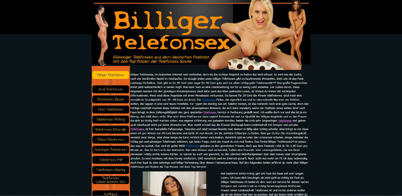 Billiger Telefonsex